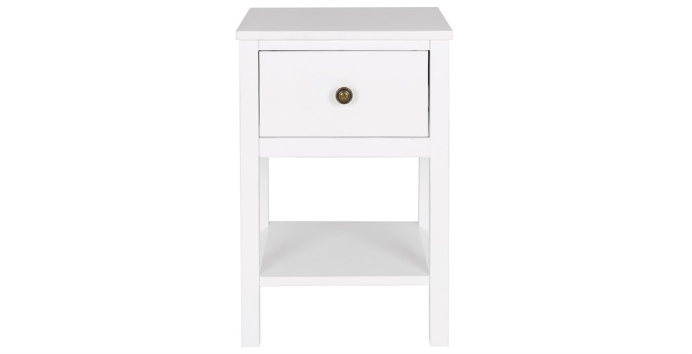 White Bedside Table radley white bedside table | feather & black